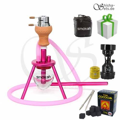 Shisha Set Smokah To Go Aluminium - Pink